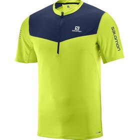 Salomon Fast Wing Løbe T-shirt Herrer grøn/blå